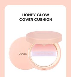 Peach C Honey Glow Cover Cushion - 3 Colors Best Makeup Primer, Best Makeup Products, Sweet Bar, Beauty Packaging, Face Serum, Korean Beauty, Makeup Collection, Pretty In Pink, Glow