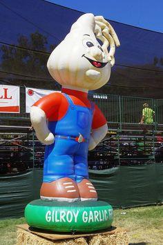 Gilroy Garlic Festival Mascot, California by California Delicious