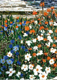 """Gertrude Jekyll's Garden, Holy Island"" - mosaic by Kimmy McHarrie"