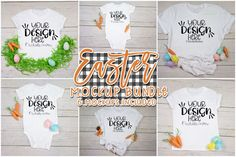 Easter T-Shirt & Bodysuit Mockup Bundle affiliate link Line Design, Your Design, Easter T Shirts, Shirt Mockup, Logo Background, Journal Cards, School Design, Design Bundles, Bodysuit