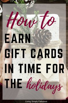 Earn Gift Cards in Time for the Holidays With Swagbucks - Living Simply Fabulous - Finance tips, saving money, budgeting planner Ways To Save Money, Money Tips, Money Saving Tips, How To Make Money, Savings Planner, Budget Planner, Christmas On A Budget, Christmas Gifts, Early Retirement