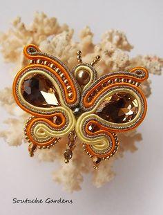 trendy Ideas for embroidery jewelry tutorial soutache earrings Soutache Pendant, Soutache Jewelry, Beaded Jewelry, Jewellery, Bead Embroidery Jewelry, Fabric Jewelry, Beaded Embroidery, Soutache Tutorial, Shibori