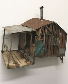 Discover recipes, home ideas, style inspiration and other ideas to try. Train Miniature, Miniature Houses, Driftwood Crafts, Art Et Illustration, Fairy Houses, Little Houses, Kitsch, Home Art, Dollhouse Miniatures
