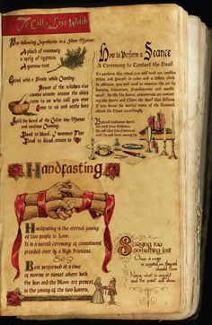 Spell to Call A Lost Witch, How to Conduct Seances, and Handfasting