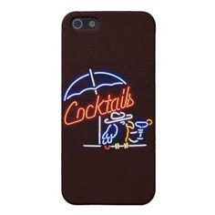 Cocktails Vintage Neon Sign iPhone 5/5s Case