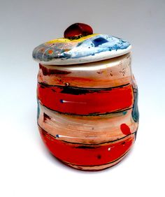 Another spice jar by Linda Styles.