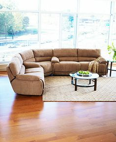 Nina Fabric Sectional Living Room Furniture Collection Power Reclining