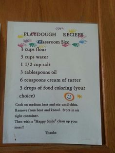 Homemade playdough! It really works!!