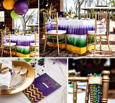 Mardi Gras shoot by @Magnolia Creative Co. {prettymyparty.com} #mardigras #party