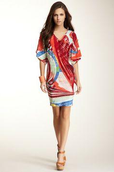 Printed V-Neck Dress on HauteLook