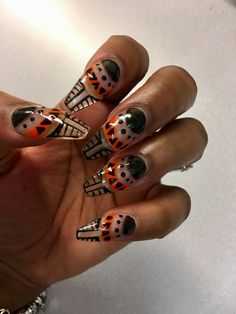 African inspired, Black Panther, Wakanda nails