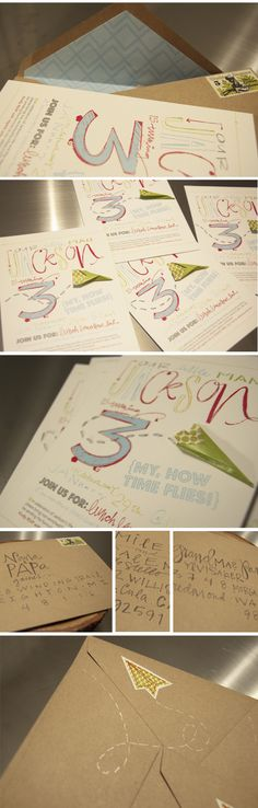 (kiddo birthday invites) i love this chick: lindsey letters. she does the most gorgeous lettering...