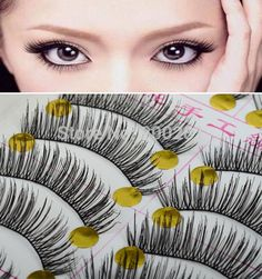 New 10 Pairs Natural Eye Lash Long Thin Fake False Eyelashes Women Natural Eyelashes Makeup Accessoires  Buy For $2.24 #eyelash #extensions