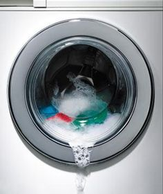 Pop in a bleach-free washer cleaner once a month to blast away odor-causing residue. Run the machine empty on a hot cycle.