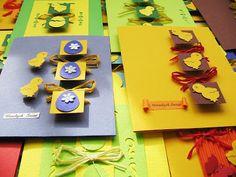 Cardmaking by jolagg: Powrót do hand made - kartki wielkanocne Diy Ostern, Easter Crafts, Cardmaking, Coasters, Triangle, Scrapbooking, Cement, Handmade Cards, Craft Ideas