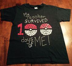 Pokemon 100 days of school shirt