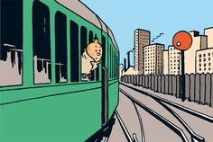 Tintin et trains : toujours sur les mêmes rails!