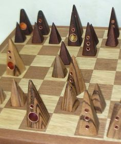 Contemporary Jerusalem chess set. I have never seen anything like it!
