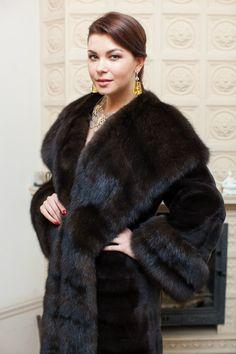 mink & sable fur coat