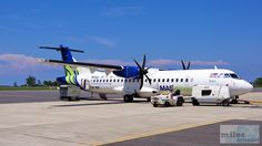 MASWings Flug MH 3255, einer ATR 72-500 (Kennung: 9W-MWA, Taufname: Kuching) - Check more at https://www.miles-around.de/asien/malaysia/willkommen-im-dschungel-von-mulu/,  #Aviation #Borneo #Dschungel #Malaysia #Mulu #Nationalpark #Natur #Regenwald