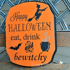 Scraps of Life: Halloween Sign Using Silhouette Cameo