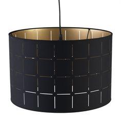Lampe avec abat jour alu cuivre h56cm cuivre noir mahara les lampes pos - Luminaire ikea salon ...
