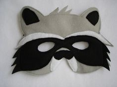 Children's RACCOON Felt Mask