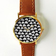 Elephant Watch Women Watches Mens Watch Leather Watch by FreeForme