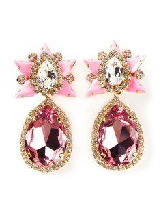 Shourouk 'galaxy' Clip-on Earrings - Elite - Farfetch.com