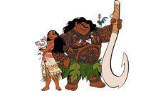 Moana and Pua and Maui