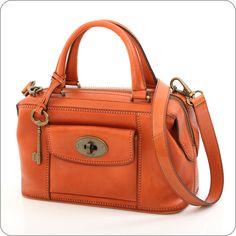 Fossil Vintage Revival Box Satchel, eine wunderschön edel gezeichnete Handtasche. Umwerfend modisch und zugleich von zeitlos schöner Eleganz.