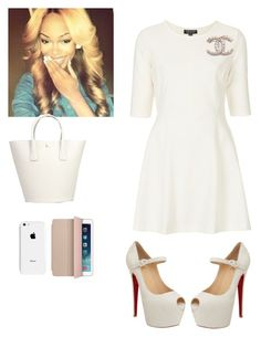 """TBT outfit at AIM Convention"" by cogic-fashion ❤ liked on Polyvore featuring Topshop, Christian Louboutin, Dolce&Gabbana and Apple"