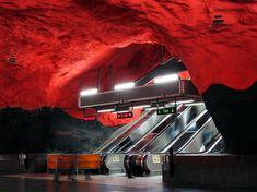 Metro Station, Solna Centrum, Stockholm, Sweden