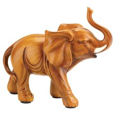 Legend states that an elephant figurine inside your home brings good fortune; why not see for yourself? Small in stature but big on looks, this beautiful wood-look elephant is a winning addition to yo