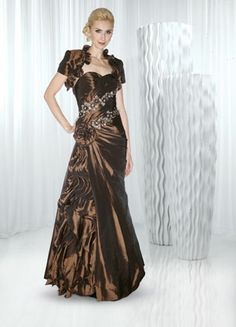 d027aab4d26 Two Pieces A line Floor Length Sweetheart Taffeta Mother of the Bride Dress  With A Wrap