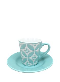 A Loja do Gato Preto | Chávena de Café Azulejo Aqua #alojadogatopreto