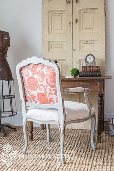 reupholstering a French chair | part 5 | upholstering the chair - Miss Mustard Seed
