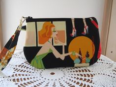 Retro 70s Style Fashions Smart phone Case Gadget Pouch Clutch Wristlet Zipper Gadget Pouch - pinned by pin4etsy.com
