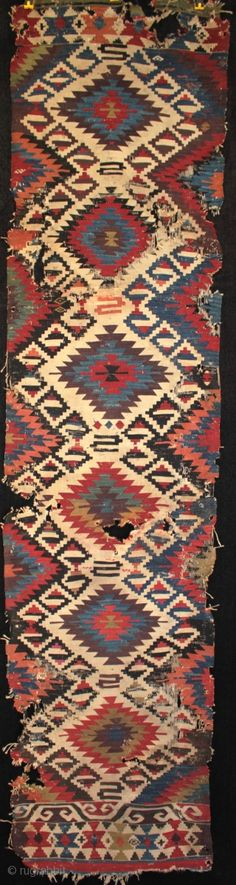Late 18th to early 19th century Anatolian Karakecili tribe kilim. One of my finds from April traveling in Turkey, a rare type of Anatolian kilim woven by the Karakecili tribe, probably living in ...