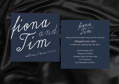 Modern Wedding Printed Invitations