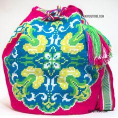 One of A Kind Wayuu Mochila Bag - Single Woven Thread, Quick Ship Anywhere, and International!  $275.00 #wayuubags www.wayuutribe.com