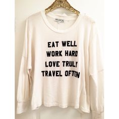 •WILDFOX• Mantra Sweatshirt New with tags attached. Slightly thinner material than a regular jumper. Wildfox Tops Tees - Long Sleeve