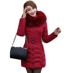 Cheap jacket feather, Buy Quality jacket fabric directly from China jacket harley Suppliers:  2016 Winter Ladies Fashion Slim Long Design Duck Down CoatJackets Women Luxury Raccoon Fur Hooded Brande