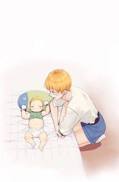 Manga Anime, Manhwa Manga, Anime Chibi, Anime Guys, Mpreg Anime, Fanarts Anime, Bl Webtoon, Night Portrait, Familia Anime