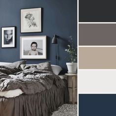 ❤ Top Small Master Bedroom Ideas on a Budget Decorating Color Schemes - home decor on a budget bedroom Best Bedroom Paint Colors, Bedroom Colour Palette, Bedroom Color Schemes, Small Bedroom Storage, Small Master Bedroom, Blue Bedroom, Budget Bedroom, Home Decor Bedroom, Bedroom Ideas