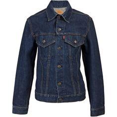 VINTAGE CLOTHING High end basic vintage jean jacket ($470) ❤ liked on Polyvore