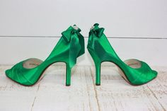 Wedding Shoes  Emerald Green  Bridal Shoes  Emerald by Parisxox, $144.00
