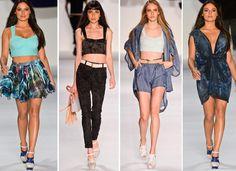 Passarelas dos desfiles do Fashion Rio verão 2013. Coleções das marcas Filhas de Gaia, Totem, Melk Z Da, Salinas, Cia. Marítima e TNG. Blog de moda