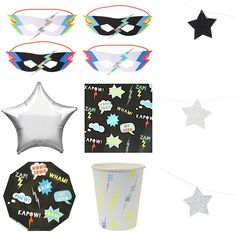 Coolest collection of PartyWare for every Super Hero  shop MeriMeri and MyLittleDay www.theoriginalpartybagcompany.co.uk