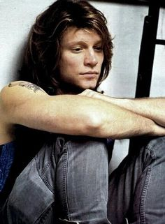 Jon Bon Jovi - mid-90's, looking somewhat somber :-(
